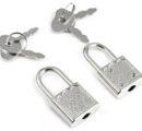 маленький замок на наручники с двумя замками 1 шт Артикул 04927643