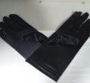 Перчатки короткие,гладкие черные Артикул:  222d