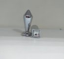 Втулка анальная конус хром малая карточные масти Артикул0127-1