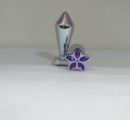 Втулка анальная конус хром малая цветок Артикул0124-1