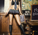 BL1260-D Игровой костюм УЧИТЕЛЬНИЦА МЛАДШИХ КЛАССОВ: топ, мини-юбка, воротничок и галстук 50-52