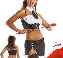 Костюм «Секретарь» (юбка, топ, воротник, галстук, стринги) разм. m арт.ee-20105
