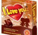 I Love You презервативы с ароматом шоколада  3 шт  арт 116