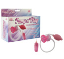 Помпа с вибрацией розовая Pump n's play Suction Mouth 54001-pinkHW