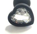 Втулка анальная силикон малая сердце Артикул0200-1